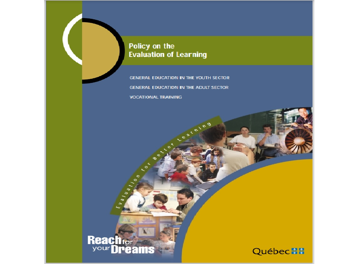 POLICY ON THE EVALUATION OF LEARNING